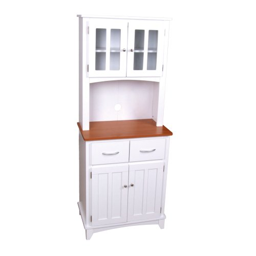 microwave cart cherry wood - 3