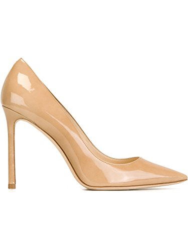 Jimmy Choo Romy 100 Pump (40 M EU, Nude - Jimmy For Choo Shoes Women