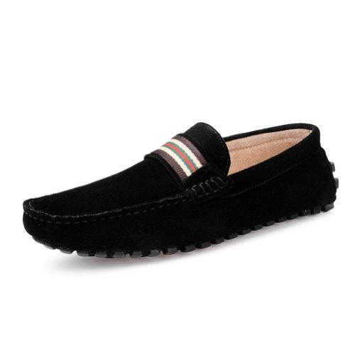 Happyshop (tm) Moda In Pelle Scamosciata Da Uomo Comfort Slip 0n Nappa Mocassino Driving Shoes Eur Size39-44 Nero