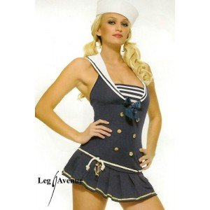 Shipmate Cutie Adult Costume Navy - Medium/Large