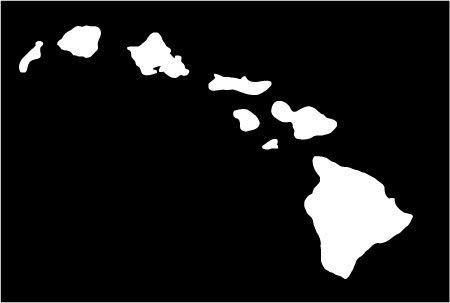 Amazoncom Hawaiian Island Chain Vinyl Sticker  White Automotive