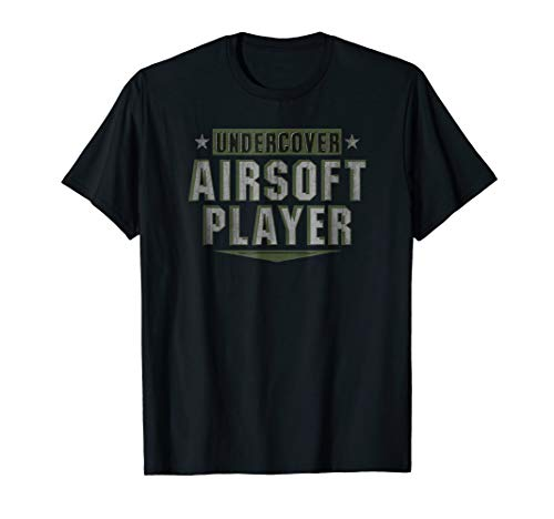 Mens Undercover Airsoft Player Outdoor Combat Sport T-Shirt Small Black (Combat Players)