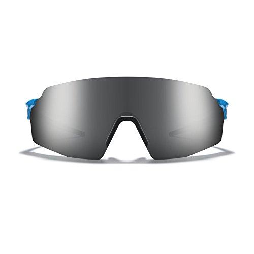 - ROKA SL-1x APEX Advanced Sports Performance Sunglasses Men Women - Cyan Frame - Dark Arctic Mirror Lens