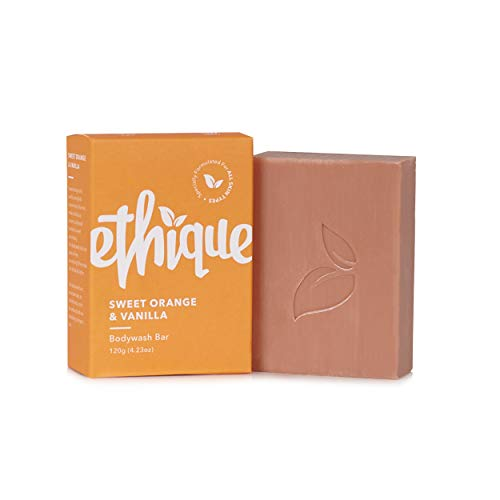 Ethique Eco-Friendly Bodywash Bar, Sweet Orange & Vanilla - Sustainable Natural Bodywash Bar for All Skin Types, Plastic Free, Vegan, Plant Based, 100% Compostable and Zero Waste, 4.23oz