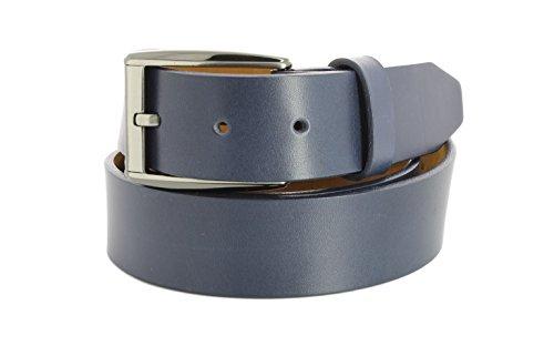 Remo Tulliani Men's 35mm Wide Romeo Italian Calfskin Leather Dress - Tulliani Belt Calfskin