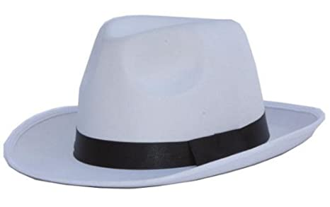 cappello gangster adulto bianco con riga nera  Amazon.it  Giochi e ... 416fb1588ee1