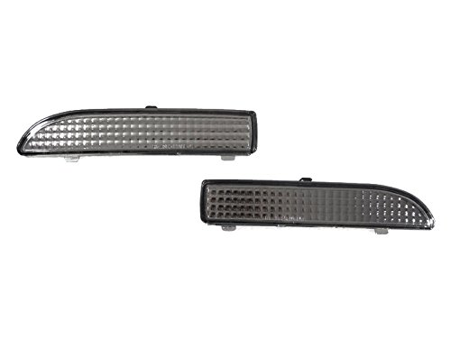 (Euro Smoke Rear Bumper Reflectors by DEPO fit for 1999-2003 BMW E46 3 Series Coupe/Cabrio )