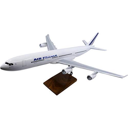 Airbus A340-300 Air France Large Mahogany Model