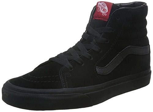 Vans VD5IBKA Unisex SK8-Hi Suede Skate Shoes, Black/Black, 11.5 B(M) US Women / 10 D(M) US Men