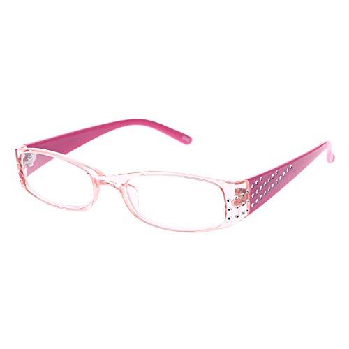 Oranmay Women Female Simple Fashion Reading Glasses Rectangular Frame Spring Hinges Rhinestone