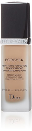 Christian Dior skin forever Perfect Makeup Everlasting Wear Pore-refining SPF35, 022 Cameo, 1 Ounce