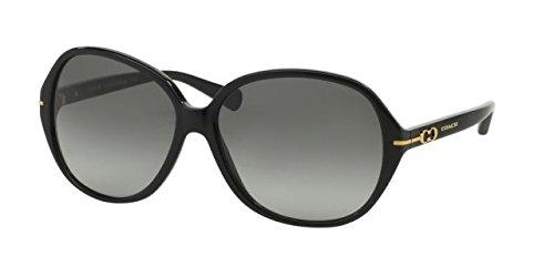 Coach L589 Bailey Sunglasses HC8118F 500211 Black Grey Gradient 60 14 - Eyewear Bailey