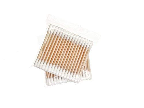 Cotton Swabs, Wooden Handle,400 ct, Double Tipped With Finest Quality Cotton Heads- Multipurpose, Safe, Highly Absorbent & Hygienic