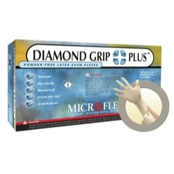 Microflex, Diamond Grip Plus PF Gloves Medium 100/Bx