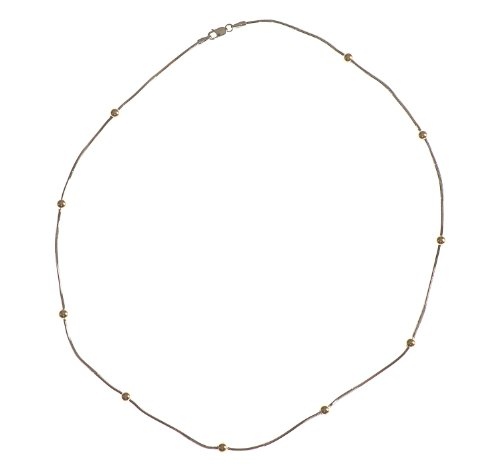 Collier - NKG-K10475 - Femme - Or Bicolore 375/1000 (9 Cts) 7.0 Gr