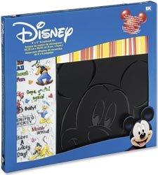 Disney 8x8 Postbound Scrapbook Photo Album Kit MICKEY MOUSE Black