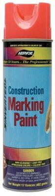 Construction Marking Paints, 20 oz Aerosol can, Fluorescent Orange (60 Pack)