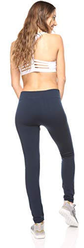 6 Pack Seamless Fleece Lined Leggings for Women - Winter, Workout & Everyday Use - One Size (Multi Color)
