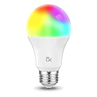 Smart Light Bulb, Works with Alexa, Echo, Google Home and Siri, AL Above Lights Dimmable E26 9W Wi-Fi LED Smart Bulb, Soft White (2700K), 60W Equivalent, 810 LM, RGB+W, ETL Listed - 1 Pack
