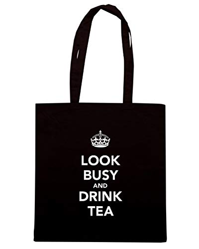 CALM TKC0407 Speed AND Borsa DRINK TEA BUSY LOOK Shirt Nera Shopper KEEP AND g1YIw1