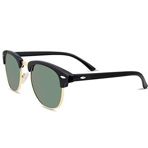 45061f6c3e Livhò Polarized Sunglasses Women Men Semi Rimless Frame Retro Sunglasses