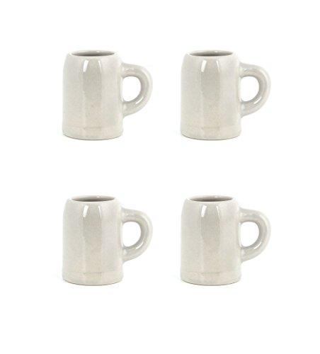 Kikkerland Mug Cups (Set of 4), White