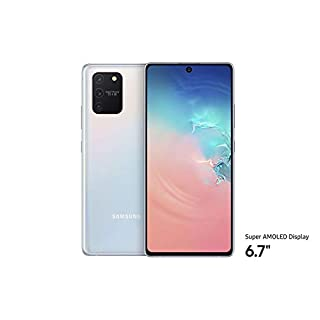 "Samsung Galaxy S10 Lite (128GB, 8GB RAM) 6.7"", Snapdragon 855, 4500mAh Battery, Dual SIM GSM Unlocked Global 4G LTE (T-Mobile, AT&T, Metro, Straight Talk) International Model SM-G770F/DS (Prism White)"
