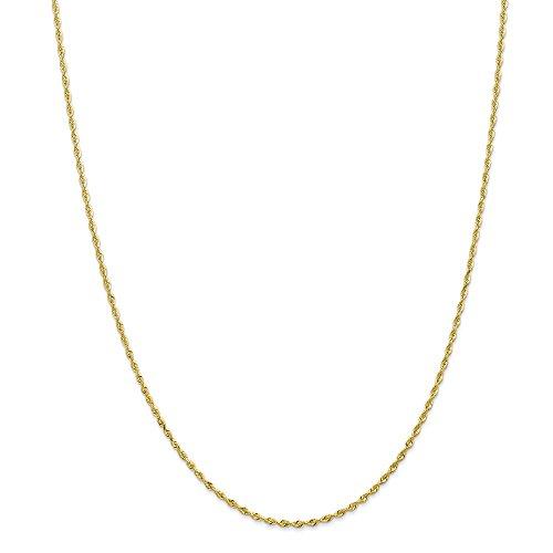 Top 10 Jewelry Gift 10k 1.84mm D/C Quadruple Rope Chain
