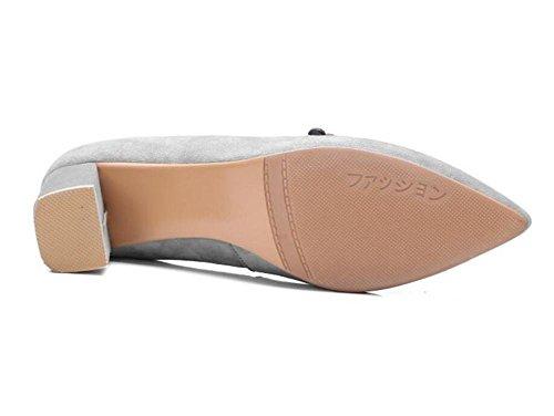 genuino Heel pompe 38 a Suede EU35 da GAOGENX Scarpe Cinghia Da Kitten 35 Floreale donna 6wIpqFqY