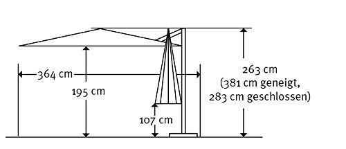 Amazon.de: Schneider Sonnenschirm Samos, Anthrazit, 300 Cm Rund, Gestell  Aluminium/Stahl, Bespannung Polyester, 21.2 Kg