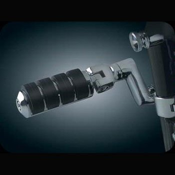 Kuryakyn 7999 Large Highway Iso-Pegs With Offset & 1-1/4 Magnum Quick Clamps For Harley-Davidson