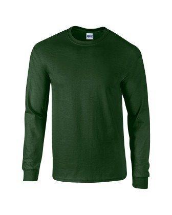 Maniche Lunghe Gildan Adult Cotton A Forêt Ultra Tm Vert Grün Maglietta 0q0YrZ