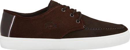 Lacoste Mens Sevrin 116 1 Fashion Sneaker Dark Brown Suede wbRPM