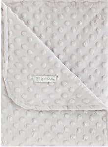 Pirulos 64005130 - Manta doble cara, 80 x 110, diseño dots, color gris