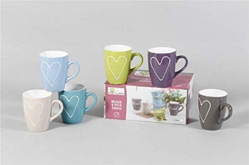 Tazas Pack de 6 tazas ceramica: Amazon.es: Hogar