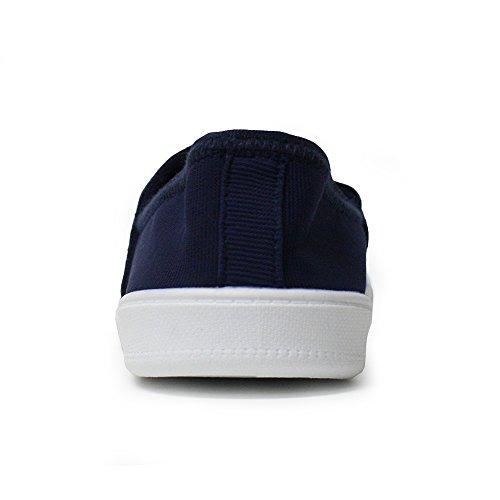 san francisco 5c840 94115 ... H2k Humeur Confortable Chaussures De Marche Sneakers Casual Chaussures  Avec Bande Élastique Marine Et Blanc ...