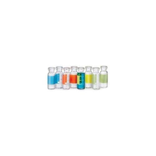National Scientific C4011-2 Target LoVial Crimp Top Vial, Flat Base, 2 mL, 12mm Diameter, Glass, Amber (Pack of 2000) by National Scientific