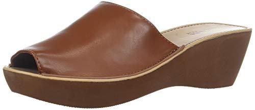 (Kenneth Cole REACTION Women's Fine Mule Platform Slide  Sandal, Luggage, 8 M US )