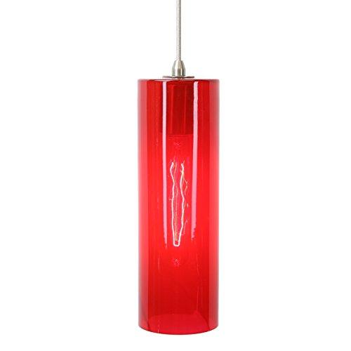 (Direct-Lighting DPN-49269-RED 1-Light 4-inch Wide Mini Pendant Light, Red Glass)