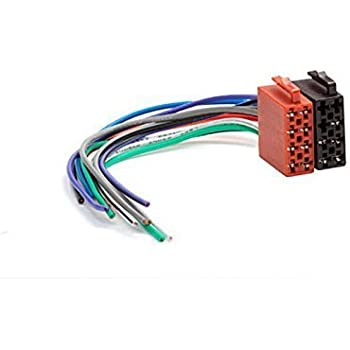 31pYG H2rSL._SL500_AC_SS350_ amazon com carav universal male iso car radio wire cable, wiring Radio Wiring Harness Diagram at crackthecode.co