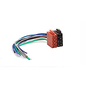 31pYG H2rSL._SY300_ amazon com carav universal male iso car radio wire cable, wiring  at n-0.co