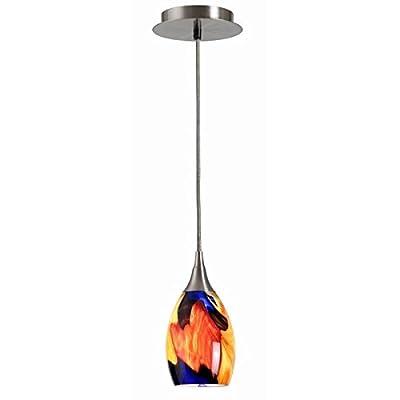 1 Light Chandelier, 60 Watts | Design Craft Tucan 1 Light Mini Pendant