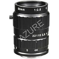 Azure Photonics AZURE-DN5028MML 1 50mm F2.8 Manual Iris C-Mount Lens, Day/Night, 5 Megapixel Rated