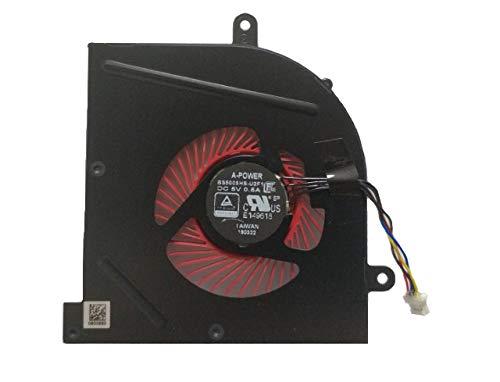 Cooler para MSI GS63 GS63VR GS73 GS73VR GS62 MS-17B1 MS-17B2 MS-16K2 MS-16K3 Part Number BS5005HS-U2F1 4 Wire