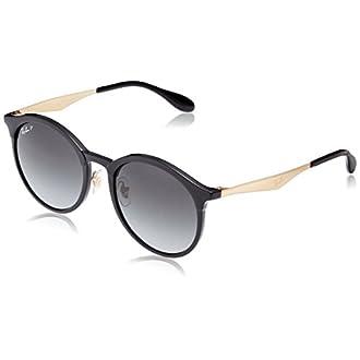 Ray-Ban Junior 0RB4277F 6306T3 53 Gafas de sol, Black/Lightgreygraddarkgreypol, Unisex