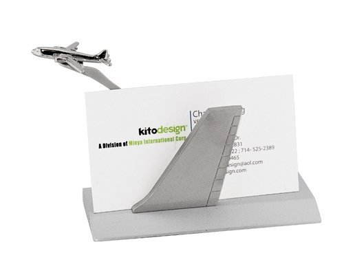 StealStreet SS-KD-1611, 4.5 Inch Airborne Business Card Holder with Small Plane Figurine, 4.5