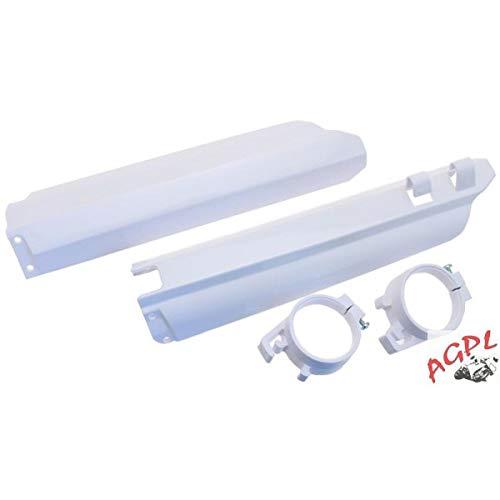YAMAHA YZ 125-250-96/04-YZF WRF 250-01/04-YZF WRF 450-03/04-Juego DE protecciones DE horquilla UFO-78435914, color blanco