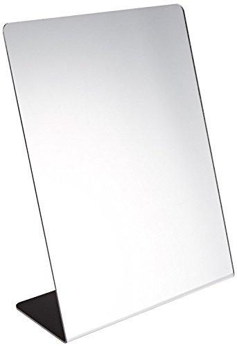 Marketing Holders Acrylic Mirror Slant Back Free Standing Single Side Self-Portrait Mirror - 8 1/2 x 11 inches Pack of 3 (Self Portrait Mirrors Single)
