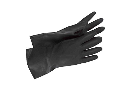 Accurate Star Wars Stormtrooper Bikerscout Black Flock Lined Diamond Grip Latex Gloves