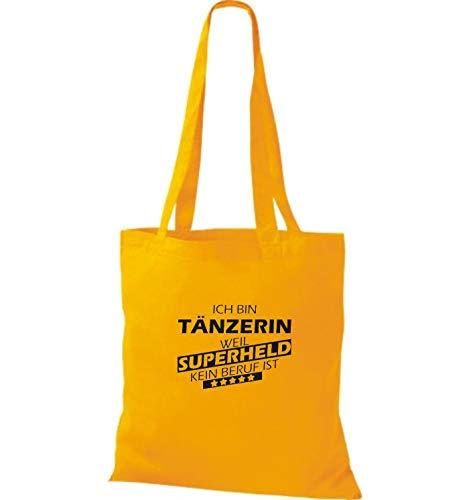 Para Amarillo Dorado De Bolso Mujer Tela Algodón Shirtstown IxwHqOp6